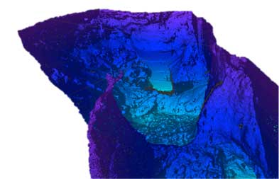 3D Scanning - View of exposed basin